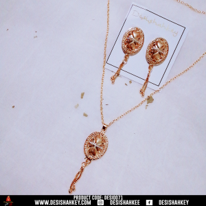 Golden heart locket chain