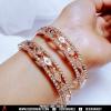 Make you feel shine bangles ( light golden shaded)