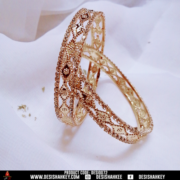 Jewellery is the most transformative thing you can wear. It transforms your look even more beautiful. So, what are you waiting! Grab yours! Make you feel shine bangles ( light golden shaded)