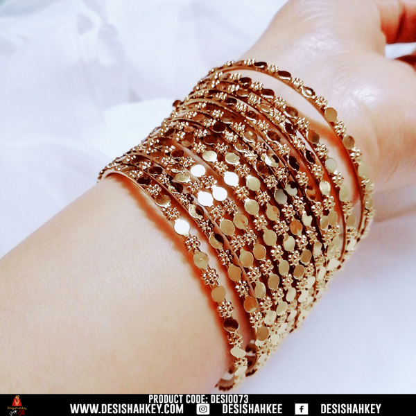 pure antique golden bangles that give you the vintage vibes