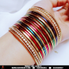 Multi shaded casual wearing bangles.