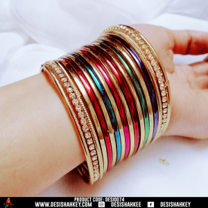 Multi shadedMulti shaded casual wearing bangles. casual wearing bangles.